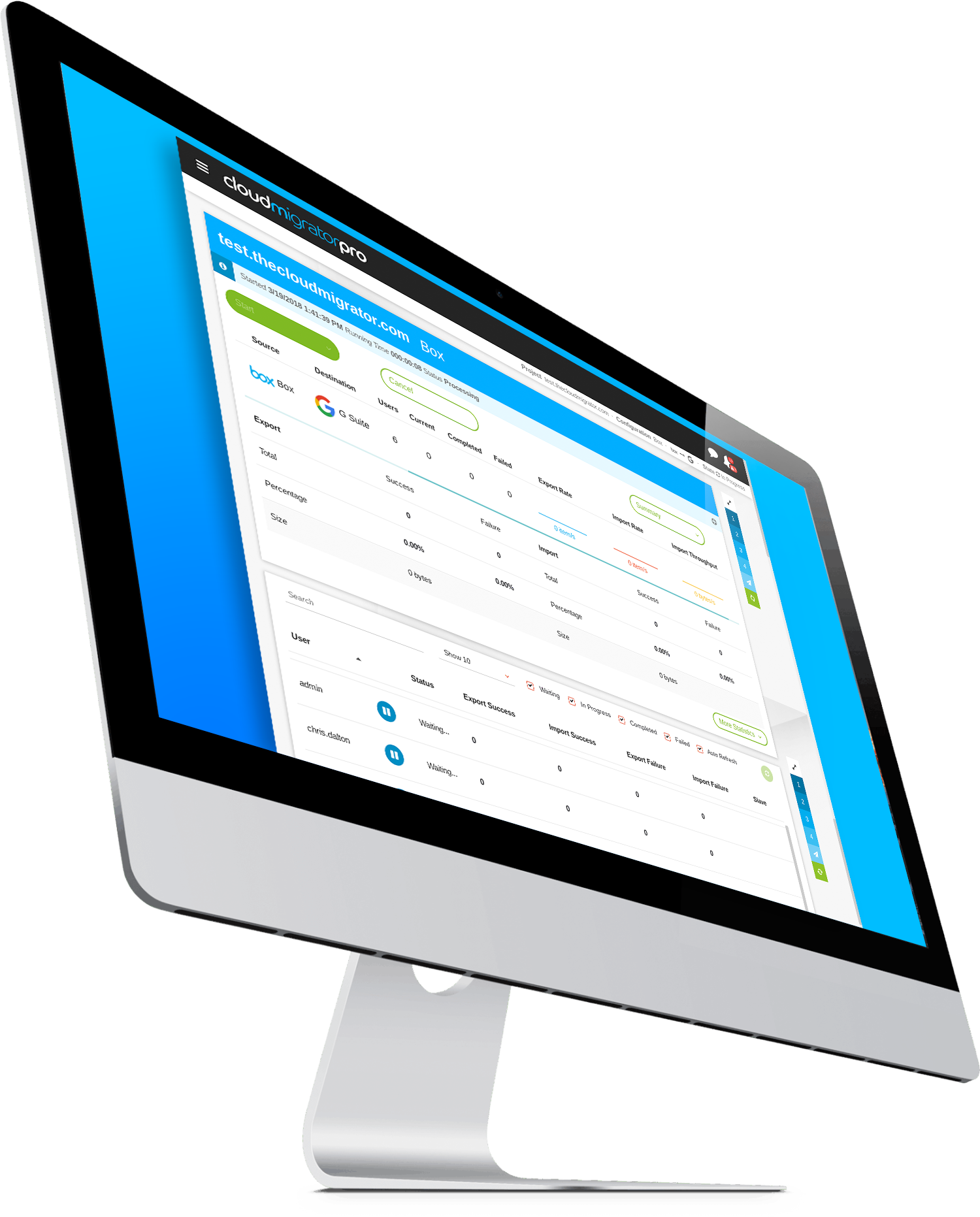 Cloudmigratorpro Mac Screen